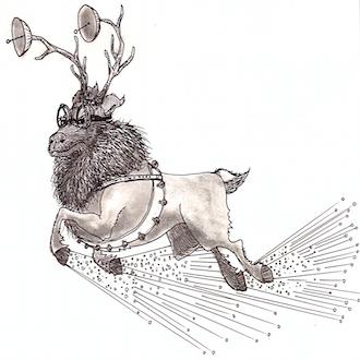 Are Santa's reindeer used for propulsion or navigation?